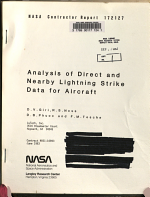 Analysis of Direct and Nearby Lightning Strike Data for Aircraft