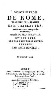Description de Rome: Volume3