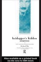 Heidegger s Hidden Sources PDF