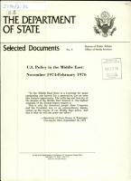 U S  Policy in the Middle East PDF