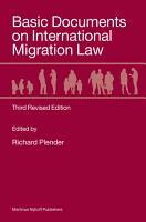 Basic Documents on International Migration Law PDF