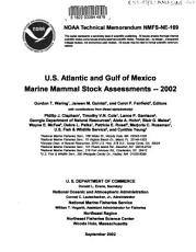 U S  Atlantic and Gulf of Mexico Marine Mammal Stock Assessments  2002 PDF
