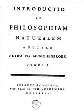 Introductio ad philosophiam naturalem: Volume 1