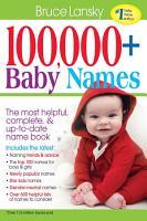 100 000   Baby Names PDF