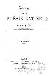Études sur la poésie latine: Volume1