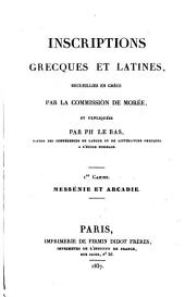 Inscriptions Grecques et Latines: Volume 3