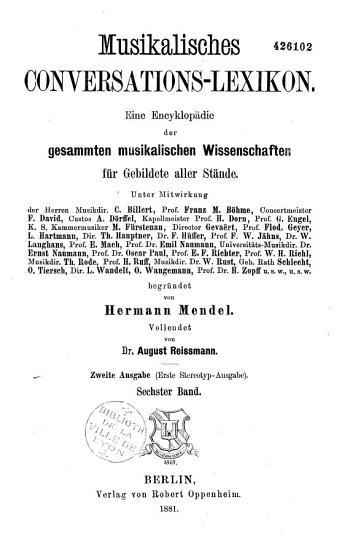 Musikalisches Conversations Lexikon PDF