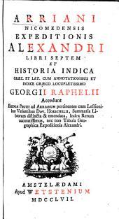 Anabaseōs Alexandrou, biblia hepta kai Indikē