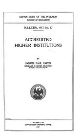 Statistics of Land Grant Colleges and Universities: Volume 2, Issues 17-31
