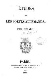 Études sur les poètes allemands