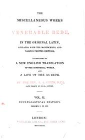 The Complete Works of Venerable Bede: Ecclesiastical history
