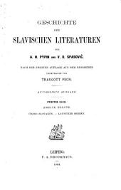 Geschichte der Slavischen literaturen: Band 2,Teil 2