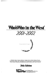 Who s who in the West