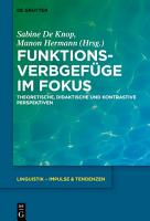 Funktionsverbgef  ge im Fokus PDF