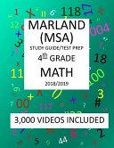 4th Grade MARYLAND MSA, 2019 MATH, Test Prep