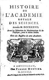 Histoire de l'Académie royale des sciences avec les mémoires de mathématique et physique