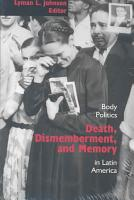 Death  Dismemberment  and Memory PDF