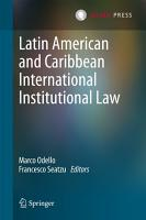 Latin American and Caribbean International Institutional Law PDF