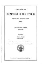 Annual Report of the Department of the Interior: Volume 2