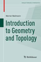 Introduction to Geometry and Topology PDF
