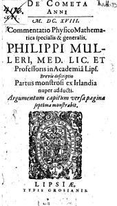 De cometa anni 1618 commentatio ...