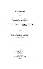 Overzicht van Oud-Nederlandsche rechtsbronnen: Volume 8