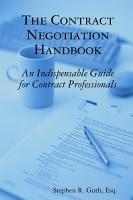 The Contract Negotiation Handbook PDF