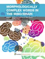 Morphologically complex words in the mind brain PDF
