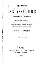 Oeuvres de Voiture: lettres et poésies, Volume1