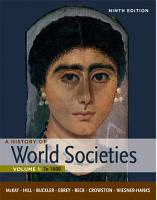 A History of World Societies  Volume 1  To 1600 PDF