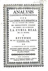 Analysis canonico-apologetica