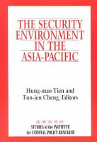 The Security Environment in the Asia Pacific PDF