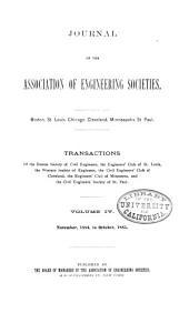 Journal of the Association of Engineering Societies: Volume 4
