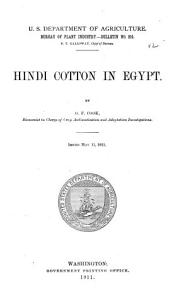 Hindi Cotton in Egypt PDF