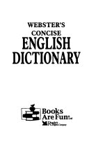 Webster's Concise English Dictionary