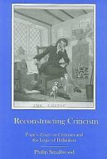 Reconstructing Criticism