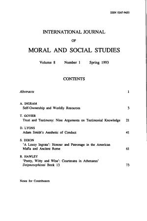 International Journal of Moral and Social Studies PDF