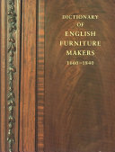 Dictionary of English Furniture Makers  1660 1840 PDF