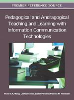 Pedagogical and Andragogical Teaching and Learning with Information Communication Technologies PDF