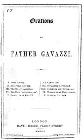 Orations by Father Gavazzi