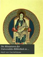 Die Miniaturen der Universit  ts Bibliothek zu Heidelberg PDF