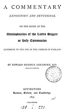 A commentary     on the order of the administration of the Lord s supper PDF
