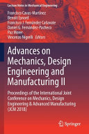 Advances on Mechanics  Design Engineering and Manufacturing II PDF