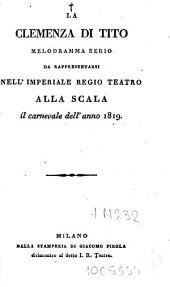 La clemenza di Tito: melodramma serio ...