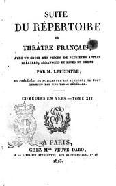 Suite du Repertoire du Theatre Francais
