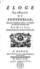 Éloge de Monsieur de Fontenelle