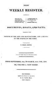 Niles' Weekly Register: Volume 13