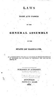 Laws of Maryland Made and Passed at a Session of Assembly PDF