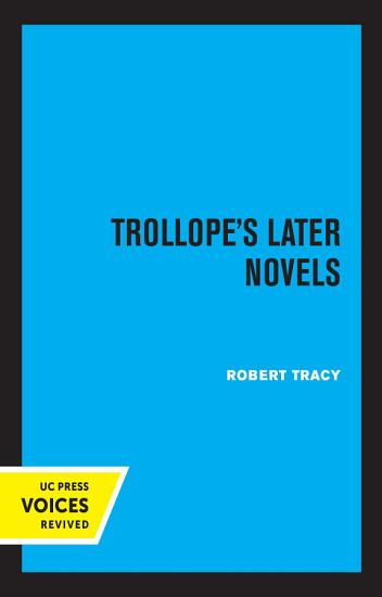 Trollope s Later Novels PDF