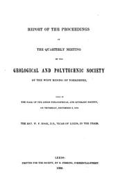 Proceedings of the Yorkshire Geological Society: Volume 1